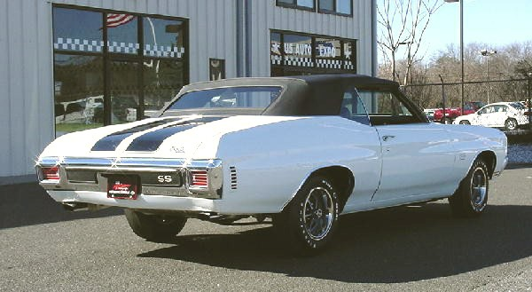 1970 CHEVROLET CHEVELLE CONVERTIBLE - Rear 3/4 - 19144