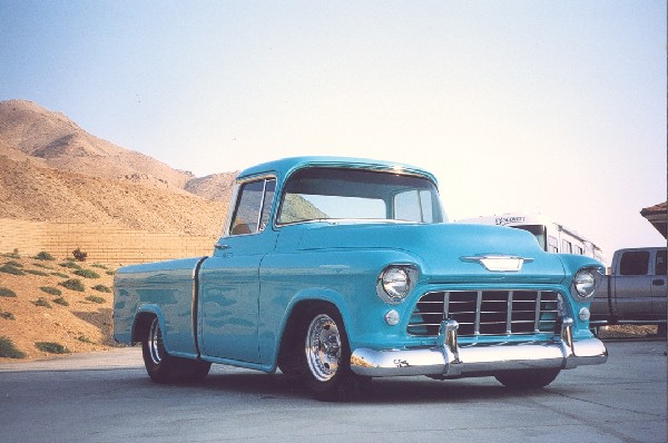 1955 CHEVROLET CAMEO STREET ROD PICKUP - Front 3/4 - 19154