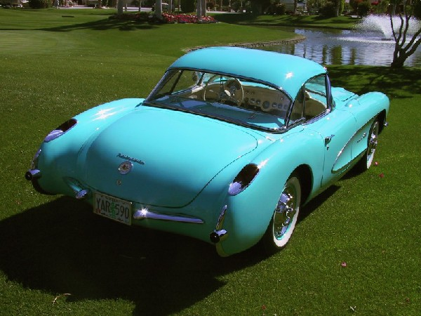 1957 CHEVROLET CORVETTE FI CONVERTIBLE - Rear 3/4 - 19158
