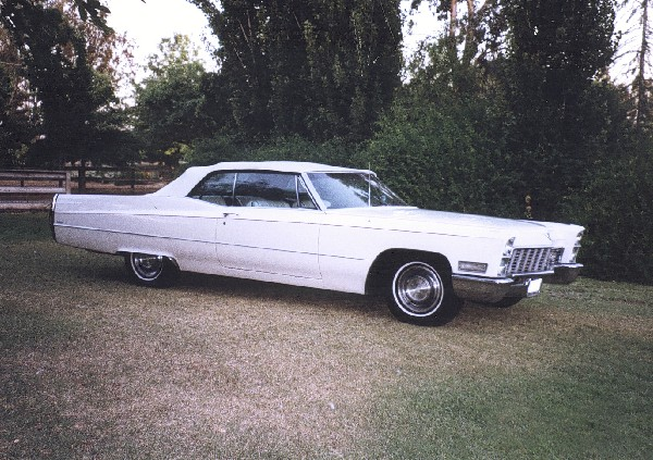 1968 CADILLAC DE VILLE CONVERTIBLE - Side Profile - 19159
