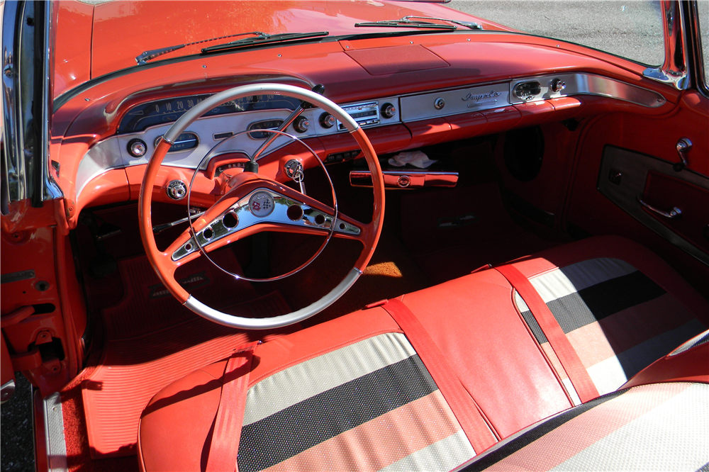 1958 CHEVROLET IMPALA CONVERTIBLE - Interior - 191619