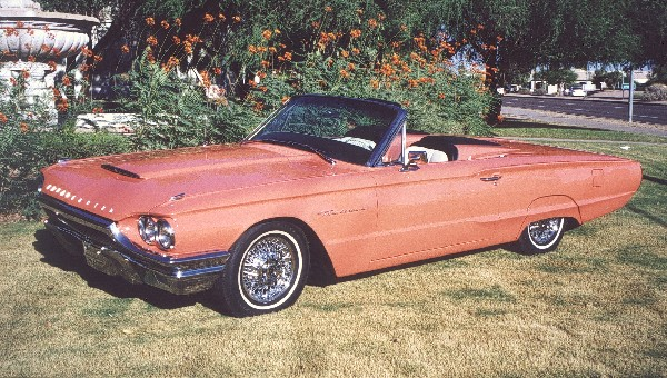 1964 FORD THUNDERBIRD CONVERTIBLE - Front 3/4 - 19173