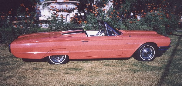 1964 FORD THUNDERBIRD CONVERTIBLE - Side Profile - 19173