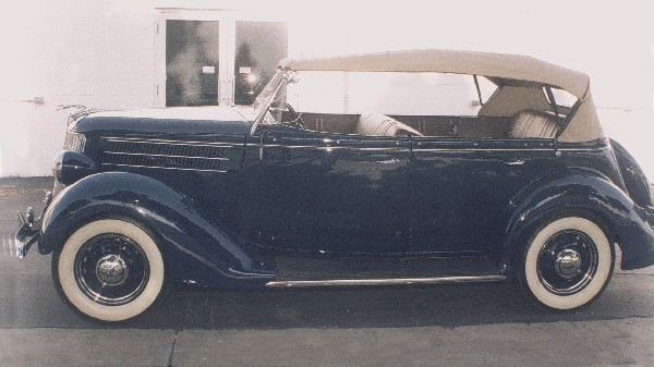 1936 FORD DELUXE PHAETON 68 CONVERTIBLE - Side Profile - 19189
