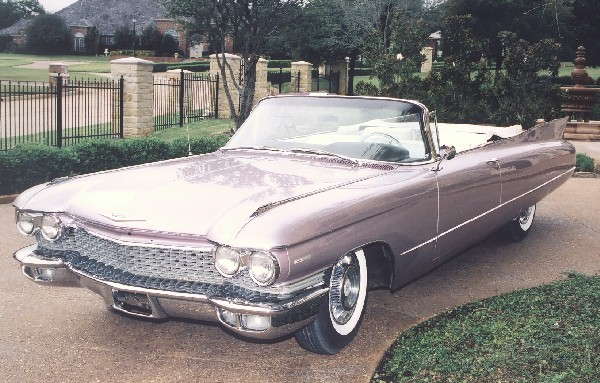 1960 CADILLAC SERIES 62 CONVERTIBLE - Side Profile - 19213