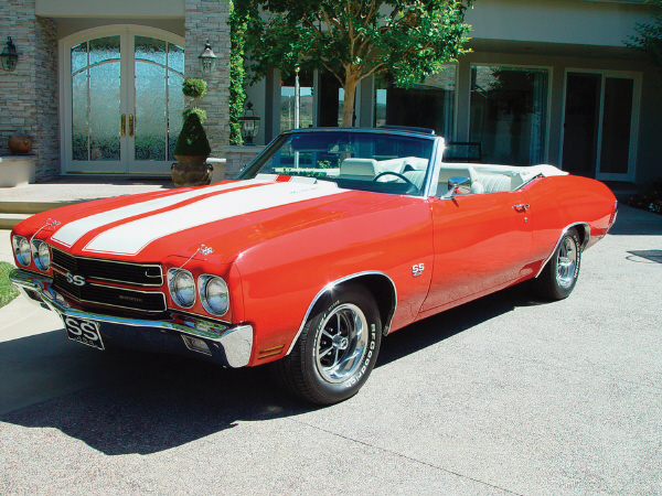 1970 CHEVROLET CHEVELLE SS CONVERTIBLE - Front 3/4 - 19227