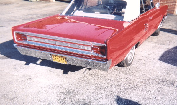 1966 DODGE CORONET 500 CONVERTIBLE - Rear 3/4 - 19239
