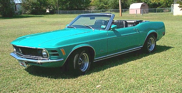 1970 FORD MUSTANG CONVERTIBLE - Front 3/4 - 19247