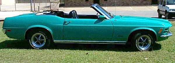 1970 FORD MUSTANG CONVERTIBLE - Side Profile - 19247