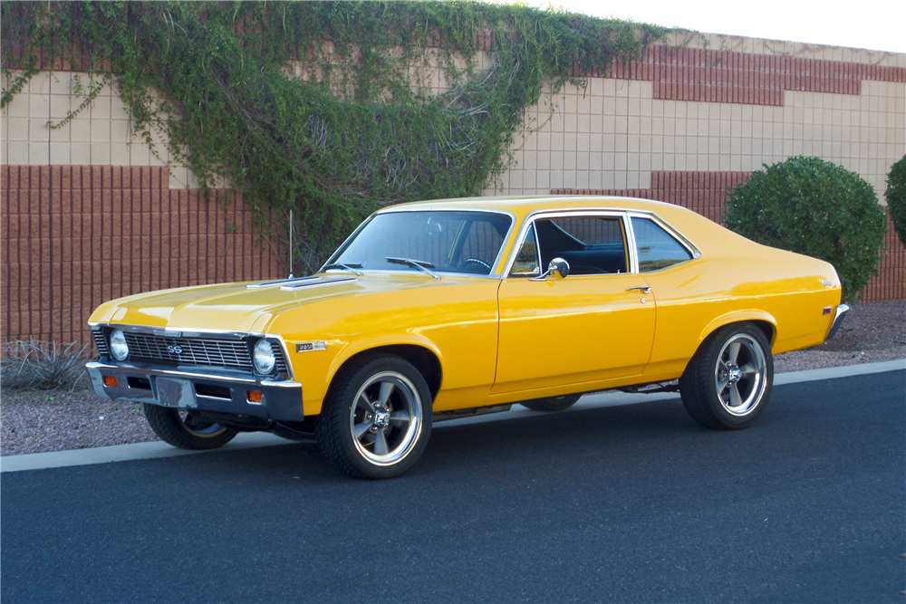 1968 CHEVROLET NOVA SS CUSTOM COUPE - Front 3/4 - 192478