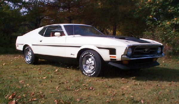 1971 FORD MUSTANG 429 SCJ FASTBACK - Front 3/4 - 19267
