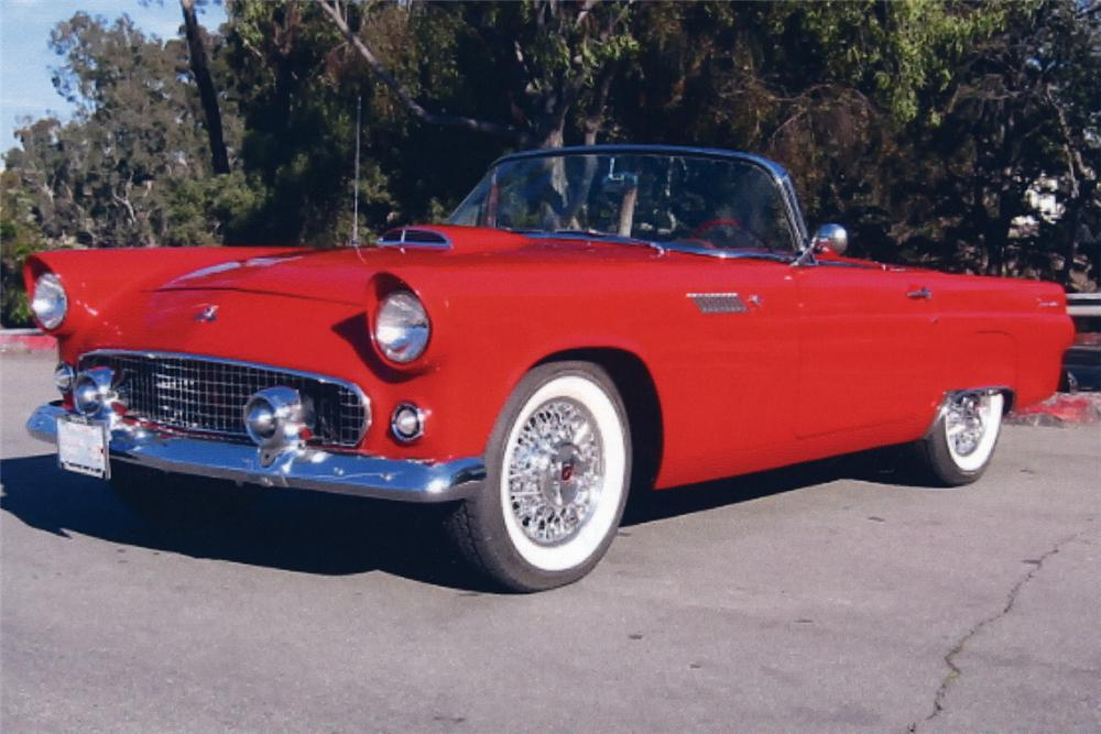 1955 FORD THUNDERBIRD CONVERTIBLE - Front 3/4 - 19281