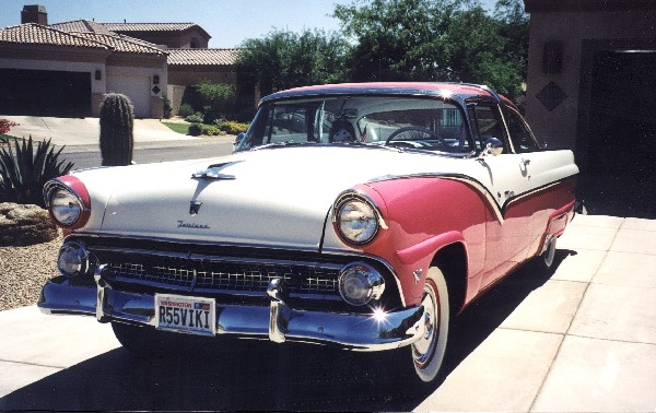 1955 FORD FAIRLANE CROWN VICTORIA COUPE - Engine - 19293