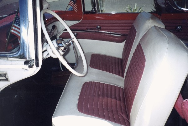 1955 FORD FAIRLANE CROWN VICTORIA COUPE - Interior - 19293