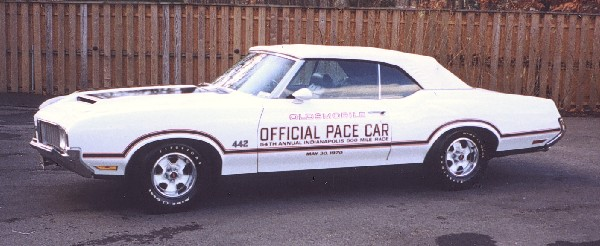 1970 OLDSMOBILE 442 INDY PACE CAR CONVERTIBLE - Front 3/4 - 19295