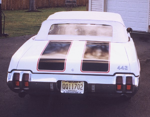 1970 OLDSMOBILE 442 INDY PACE CAR CONVERTIBLE - Rear 3/4 - 19295
