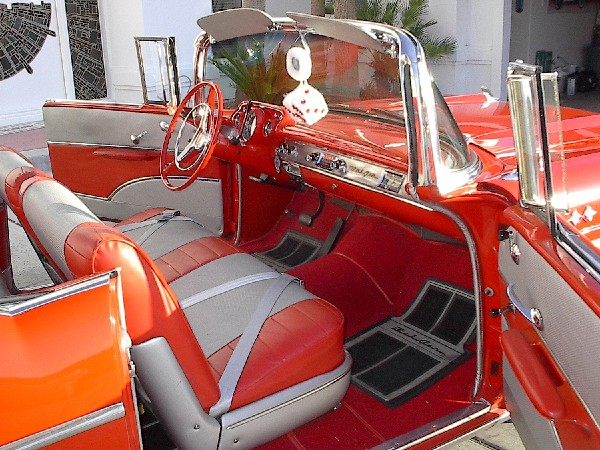 1957 CHEVROLET BEL AIR FI CONVERTIBLE - Interior - 19309