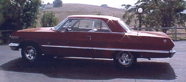 1963 CHEVROLET IMPALA 2 DOOR HARDTOP - Rear 3/4 - 19313