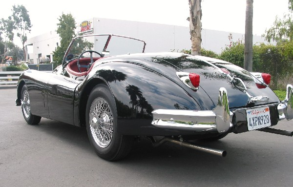 1956 JAGUAR XK 140 MC ROADSTER - Side Profile - 19358