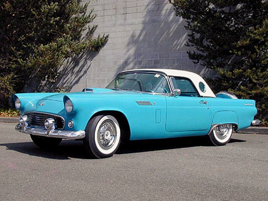 1956 FORD THUNDERBIRD CONVERTIBLE - Front 3/4 - 19363