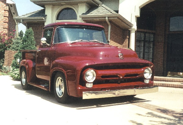 1956 FORD F-100 CUSTOM PICKUP - Front 3/4 - 19395