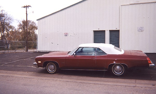 1974 OLDSMOBILE DELTA 88 CONVERTIBLE - Front 3/4 - 19396