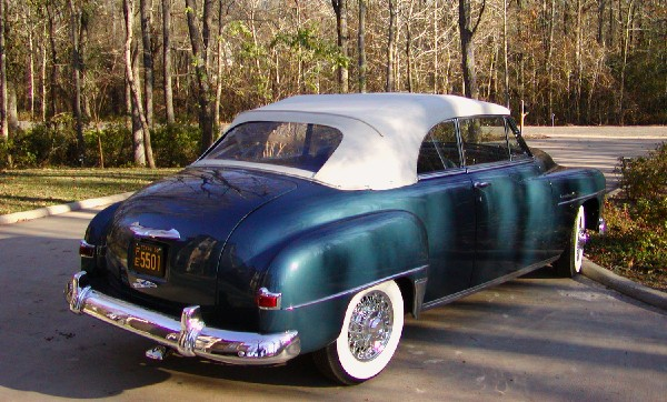 1952 PLYMOUTH CRANBROOK CONVERTIBLE - Rear 3/4 - 19399
