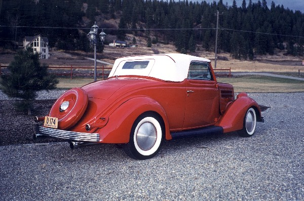 1936 FORD DELUXE CABRIOLET HOT ROD - Rear 3/4 - 19400