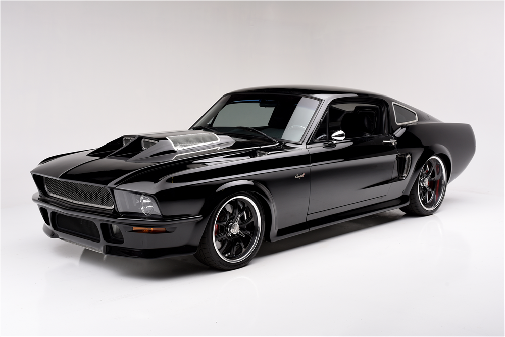 1967 ford mustang custom supercharged fastback obsidian 194132