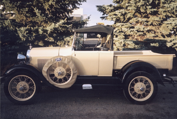 1929 FORD MODEL A PICKUP - Side Profile - 19429