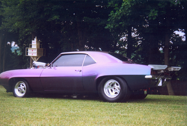 1969 CHEVROLET CAMARO PRO-STREET COUPE - Side Profile - 19467