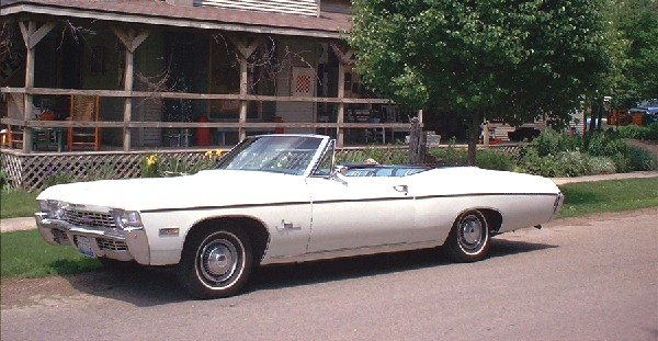 1968 CHEVROLET IMPALA SS CONVERTIBLE - Side Profile - 19478