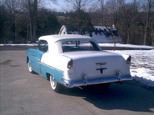 1955 CHEVROLET BEL AIR CONVERTIBLE - Rear 3/4 - 19482