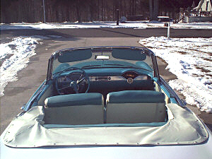 1955 CHEVROLET BEL AIR CONVERTIBLE - Side Profile - 19482