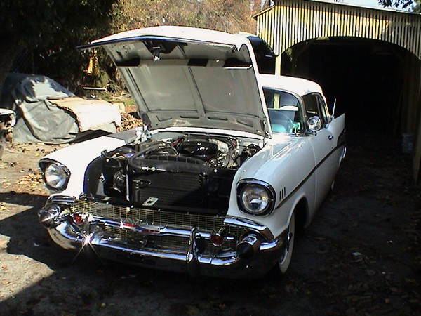 1957 CHEVROLET BEL AIR CONVERTIBLE - Engine - 19486