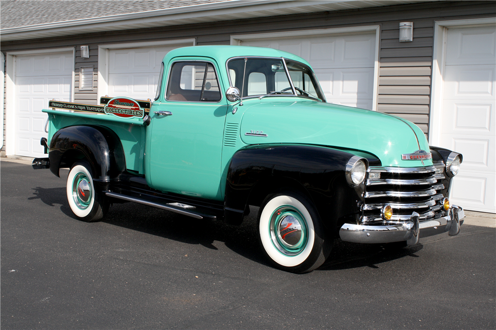 1953 chevrolet 3100 pickup 194985 for 1953 chevy 5 window pickup