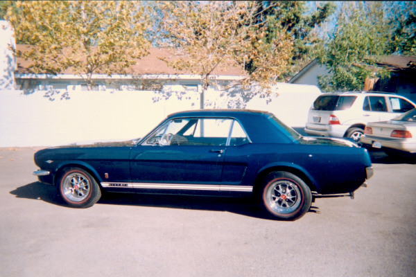1965 FORD MUSTANG COUPE - Side Profile - 19536