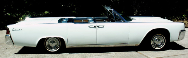 1963 LINCOLN CONTINENTAL CONVERTIBLE - Side Profile - 19540