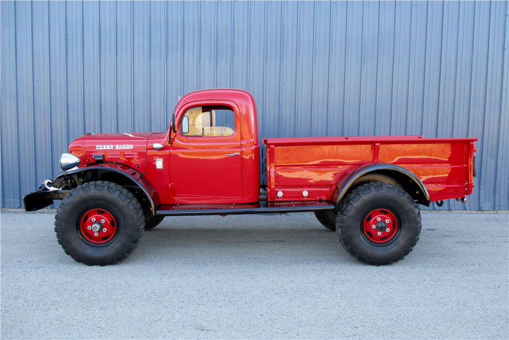 1953 DODGE POWER WAGON PICKUP - Side Profile - 195840