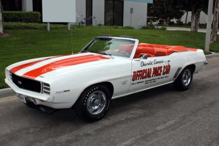 1969 Chevrolet Camaro Indy Pace Car Rs Ss Convertible 195843