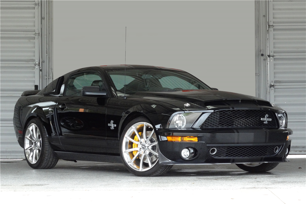 Superb ... 2008 FORD MUSTANG SHELBY GT500 SUPER SNAKE   Front 3/4   196390 ...