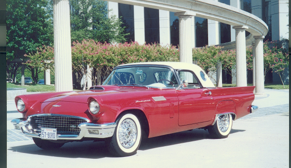 1957 FORD THUNDERBIRD CONVERTIBLE - Front 3/4 - 19654