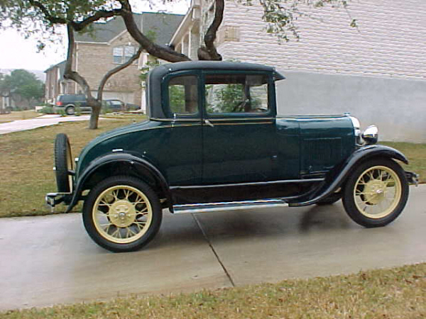 1929 FORD MODEL A SPECIAL COUPE - Side Profile - 19697