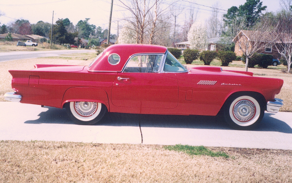 1957 FORD THUNDERBIRD CONVERTIBLE - Side Profile - 19716