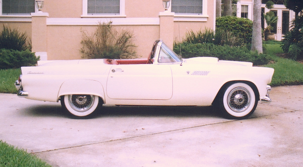 1955 FORD THUNDERBIRD CONVERTIBLE - Side Profile - 19743