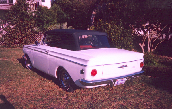 1962 RAMBLER AMERICAN CONVERTIBLE - Rear 3/4 - 19760