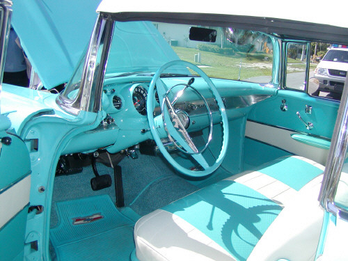 1957 CHEVROLET BEL AIR CONVERTIBLE - Interior - 19793
