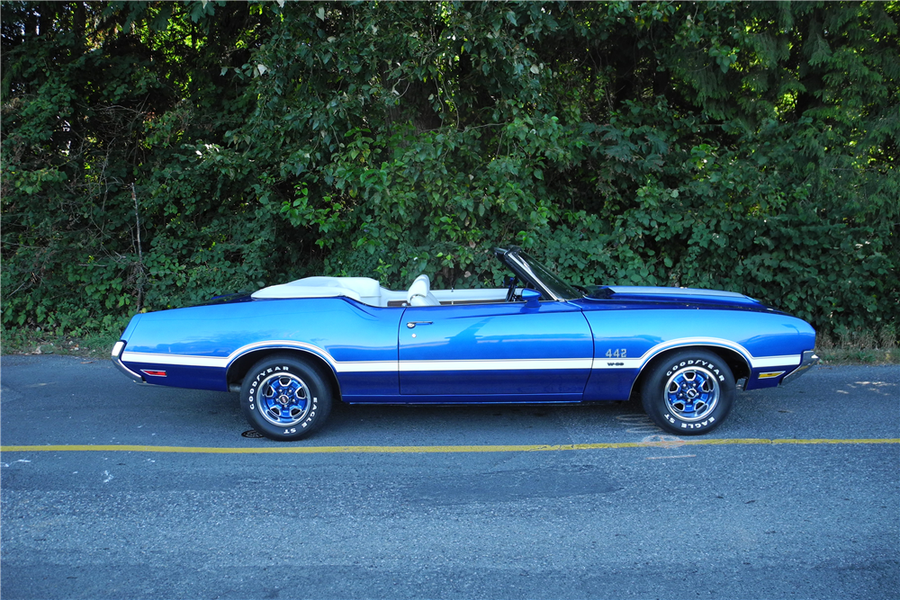 Used Cars In Waukesha Wi 1972 OLDSMOBILE CUTLASS CONVERTIBLE 442 RE CREATION Side Profile