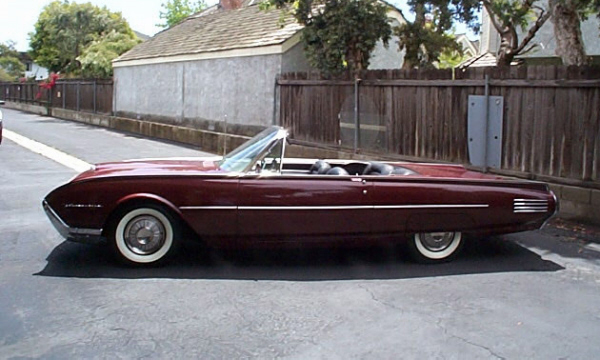 1961 FORD THUNDERBIRD CONVERTIBLE - Side Profile - 19892