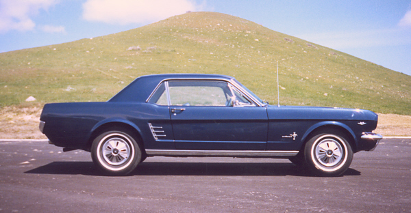1966 FORD MUSTANG HARDTOP - Side Profile - 19895
